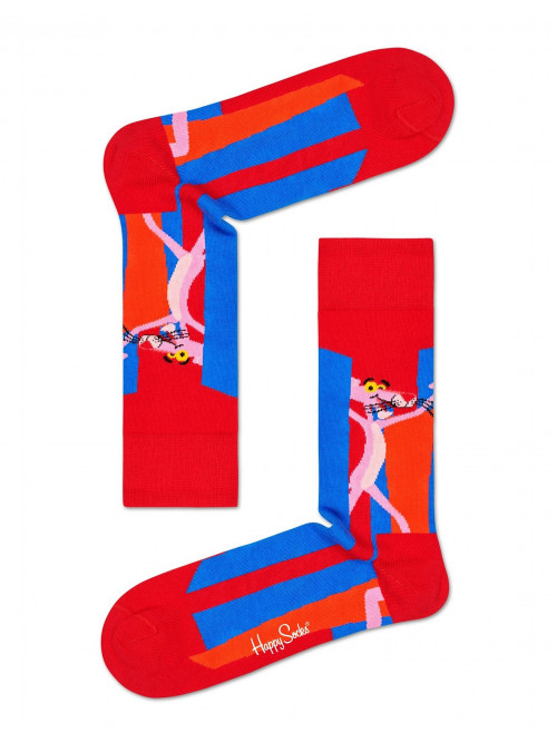 Ponožky Happy Socks Pink Panther Smile Pretty, Say Pink červeno-modré