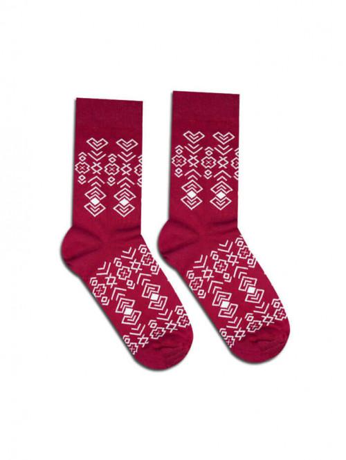 Ponožky Čičman  bordové