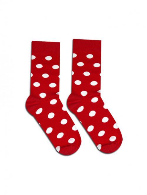 Ponožky Tečky Kakavko červené