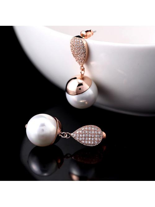 Náušnice Kouzelná perla bronzové