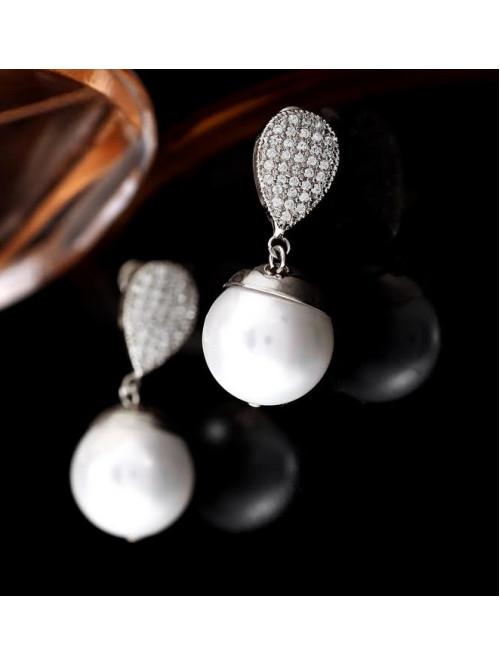 Náušnice Kouzelná perla stříbrné