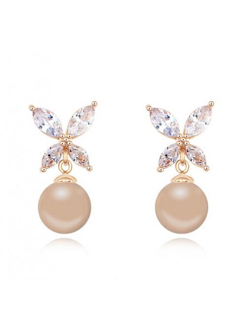 Náušnice Marylin s perlou krémové