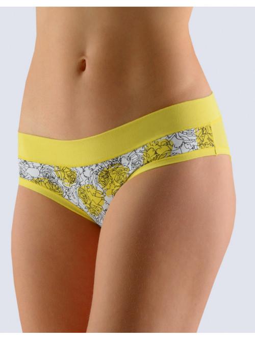 Kalhotky Gina Flowers Yellow