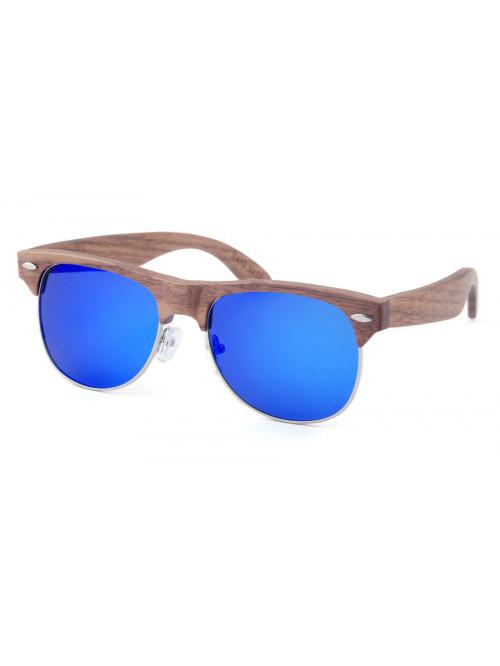 Dřevěné sluneční brýle Clubmaster Sky