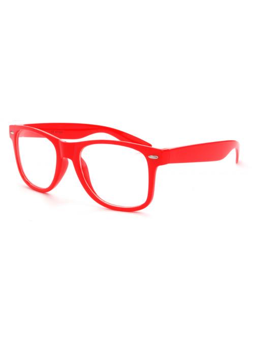 Brýle Wayfarer Red Nerd