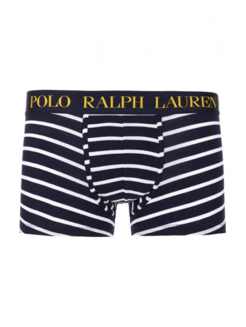 Pánské boxerky Polo Ralph Lauren Classic Stripe Trunk Stretch Cotton modrobílé pruhované