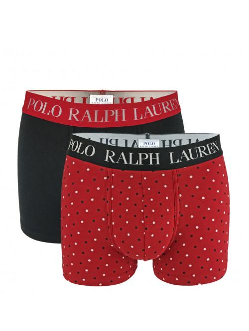 Pánske boxerky Polo Ralph Lauren Classic Trunk Stretch Cotton 2-pack černé, červené