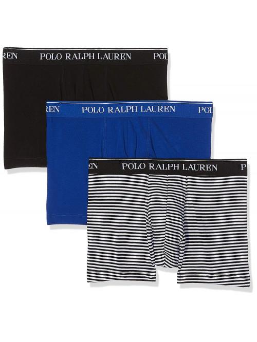 Pánské boxerky Polo Ralph Lauren Classic Trunk Stretch Cotton 3-pack černé, modré, černobílé