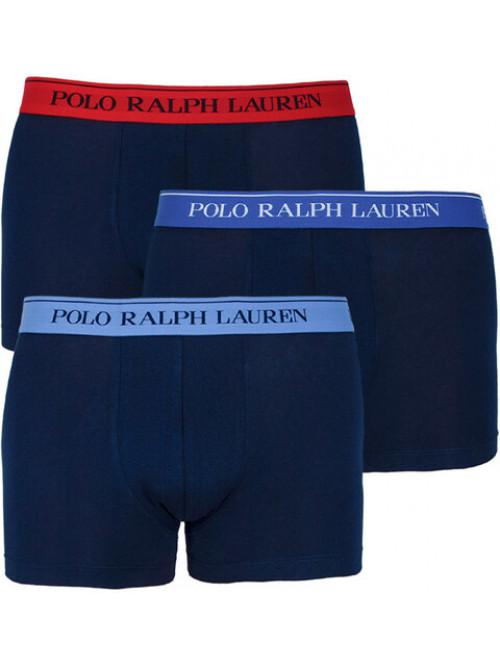 Pánské boxerky Polo Ralph Lauren Classic Trunk Stretch Cotton 3-pack tmavomodré