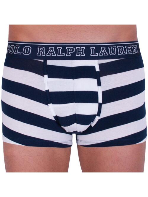 Pánské boxerky Polo Ralph Lauren White / Cruise Navy Rugby Stripe bílo-modré