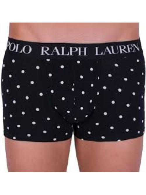 Pánské boxerky Polo Ralph Lauren Print Classic Trunk černé puntíkované