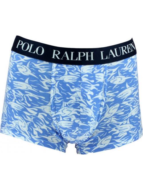 Pánske boxerky Polo Ralph Lauren Shark Print Classic Trunk modré