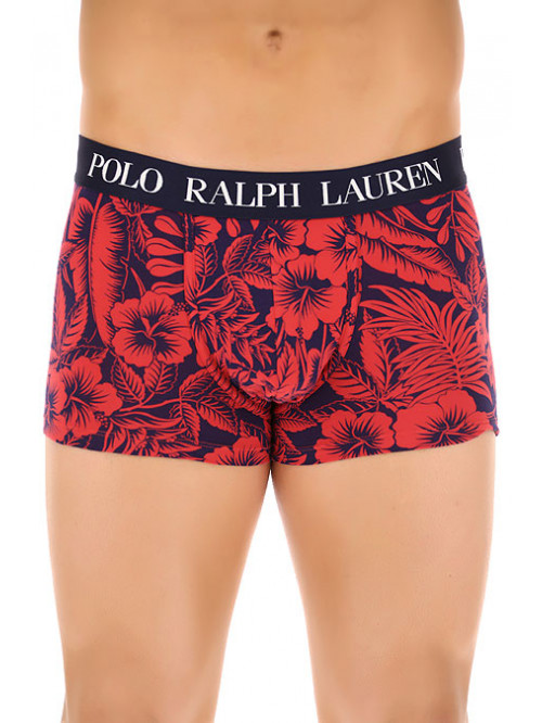 Pánské boxerky Polo Ralph Lauren Classic Trunk Tropical Print Sunrise červené
