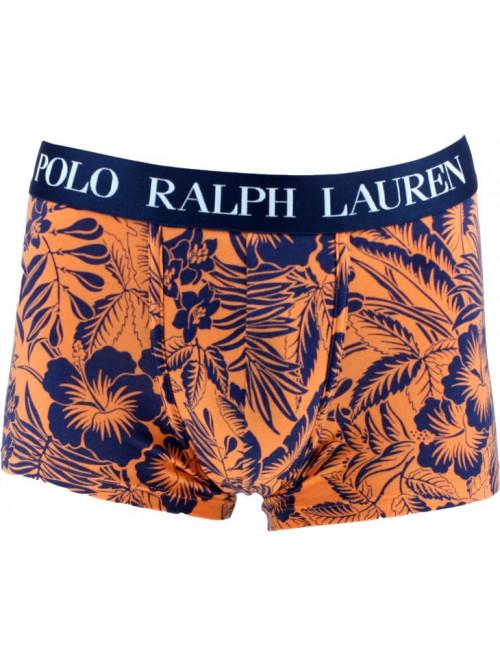 Pánské boxerky Polo Ralph Lauren Classic Trunk Tropical Print Sun oranžové