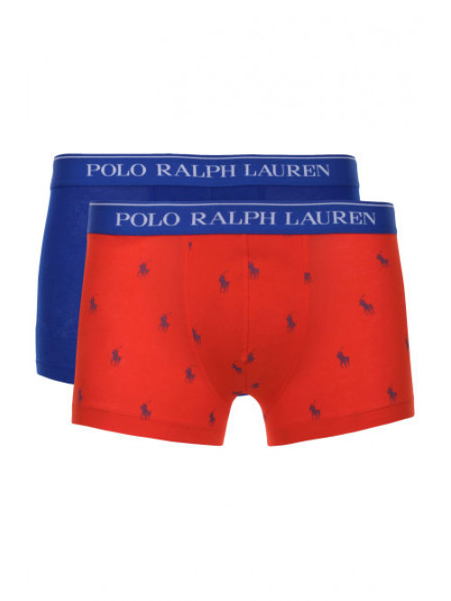 Pánské boxerky Polo Ralph Lauren Classic Trunk Stretch Cotton 2-pack modré, červené