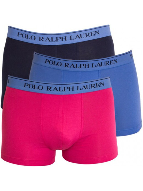 Pánské boxerky Polo Ralph Lauren Classic Trunk Stretch Cotton 3-pack černé, modré, růžové