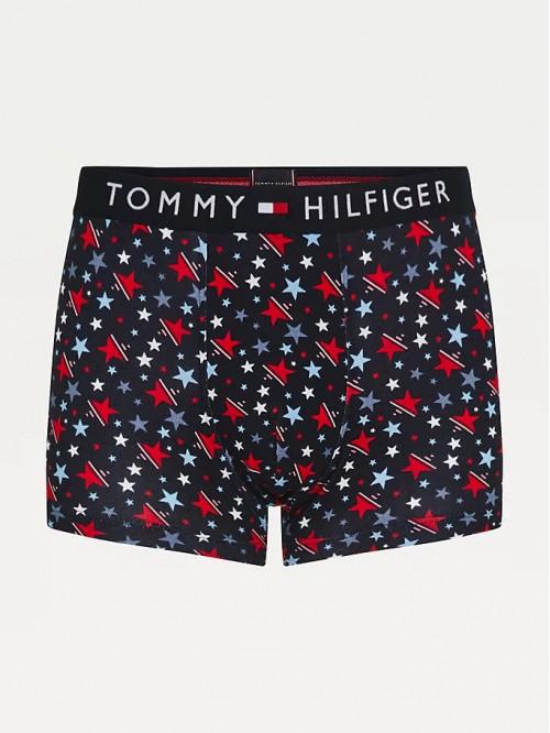 Pánské Boxerky Tommy Original CTN Trunk Print černé / vzorované