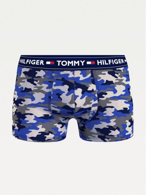 Pánské boxerky Tommy Hilfiger Camouflage Print modré, maskáčové
