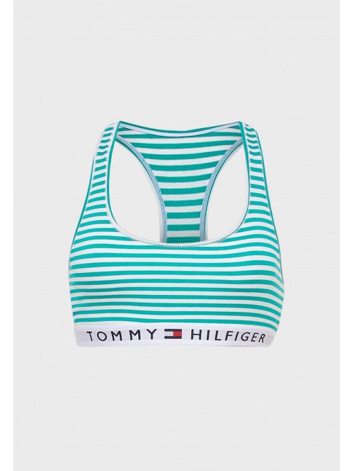 Dámská podprsenka Tommy Hilfiger Logo Band Racerback Striped proužkovaná