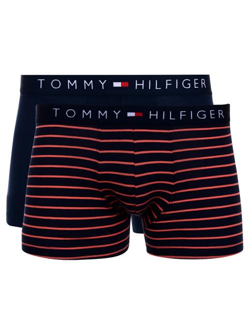 Pánské boxerky Tommy Hilfiger Trunk Mini Stripe 2-pack navy, proužkované