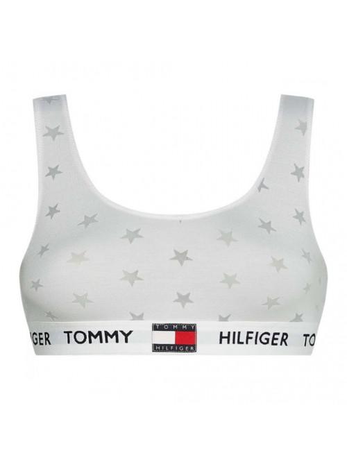 Dámská podprsenka Tommy Hilfiger Star Burnout Bralette bílá