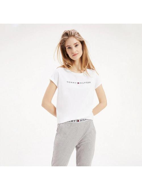 Dámské tričko Tommy Hilfiger RN TEE SS LOGO  bílé