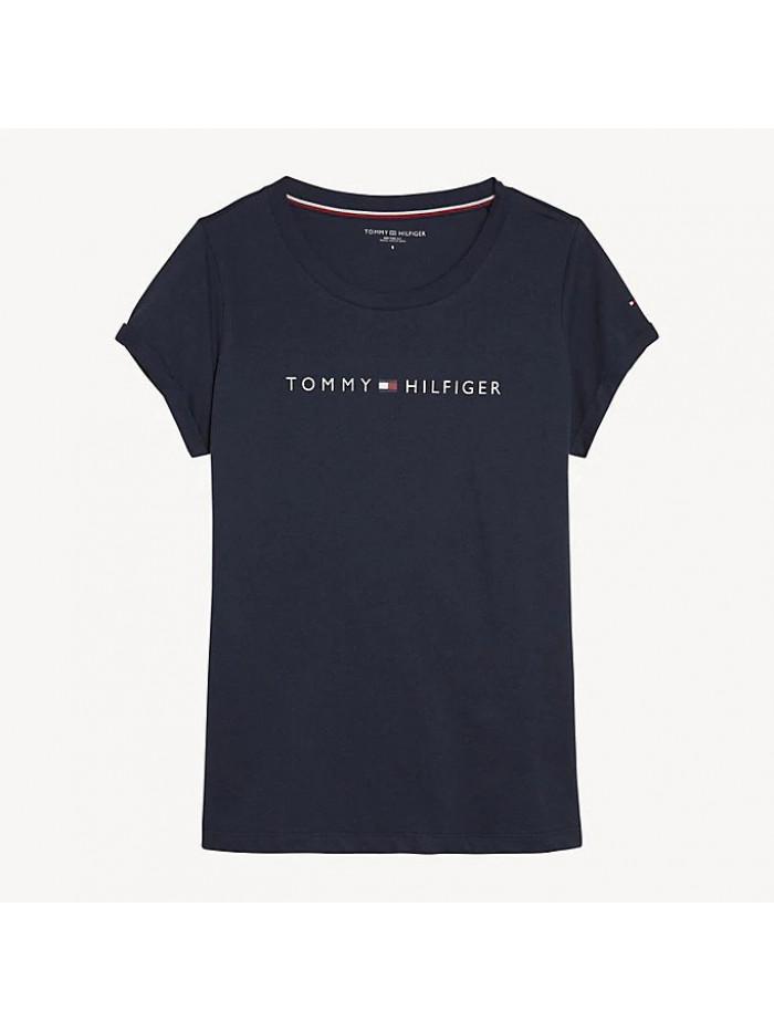 Dámské tričko Tommy Hilfiger RN TEE SS LOGO  modré