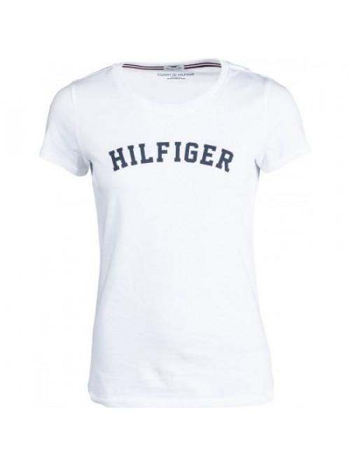 Dámské tričko Tommy Hilfiger SS TEE PRINT bílé