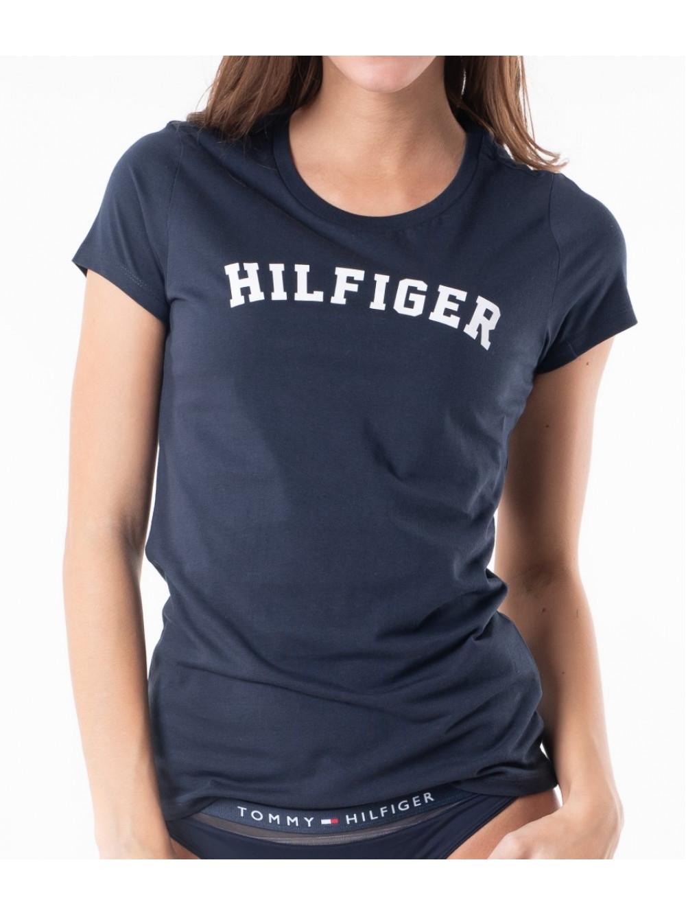 Dámské tričko Tommy Hilfiger SS TEE PRINT navy modré