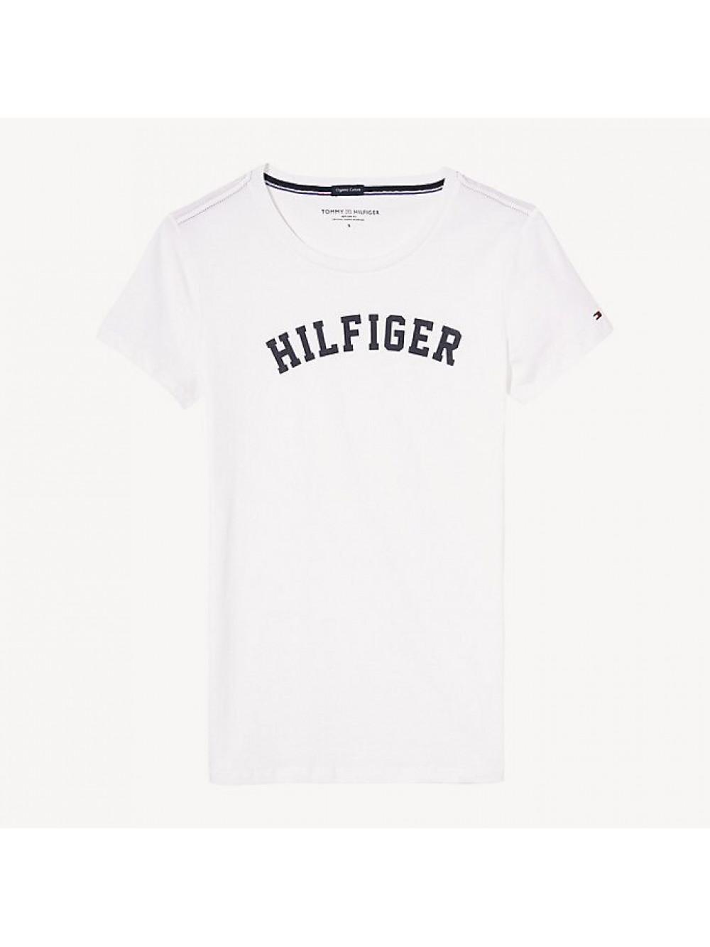 Dámské tričko Tommy Hilfiger SS TEE PRINT biele