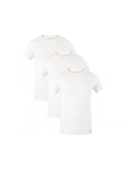 Pánské tričko Tommy Hilfiger C-Neck Tee SS bílé 3-pack