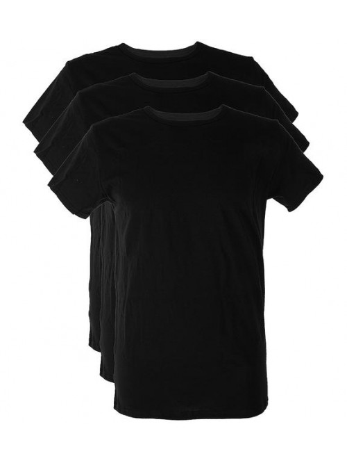 Pánské tričko Tommy Hilfiger C-Neck Tee SS černé 3-pack