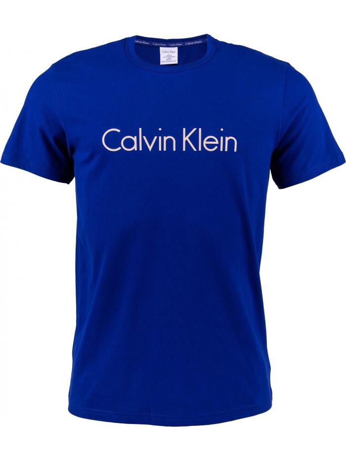 Pánské tričko Calvin Klein SS Crew Neck tmavomodré
