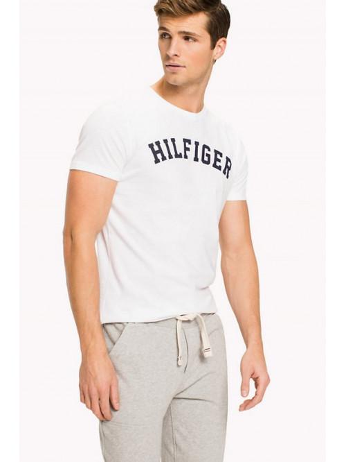 Pánské tričko Tommy Hilfiger SS TEE LOGO bílé
