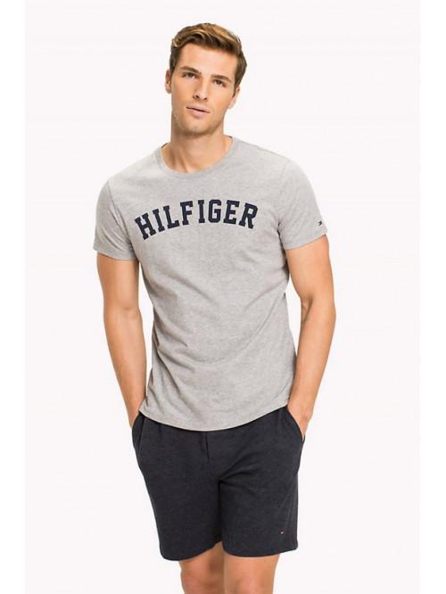Pánské tričko Tommy Hilfiger SS TEE PRINT LOGO šedé