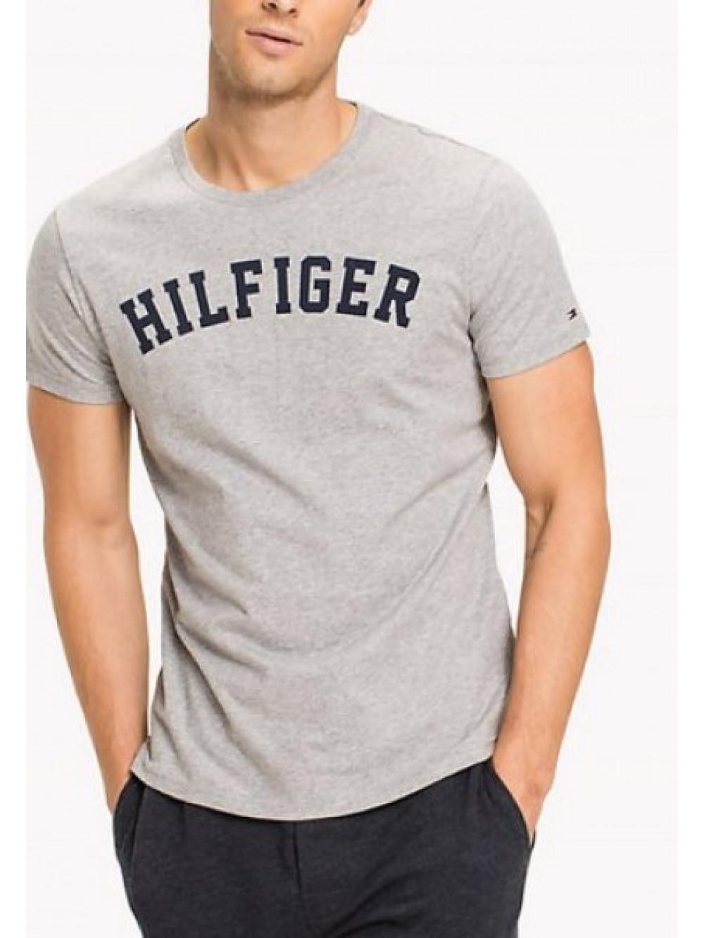 Pánské tričko Tommy Hilfiger SS TEE LOGO šedé