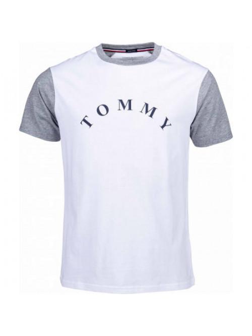 Pánské tričko Tommy Hilfiger CN SS Tee Logo bílé
