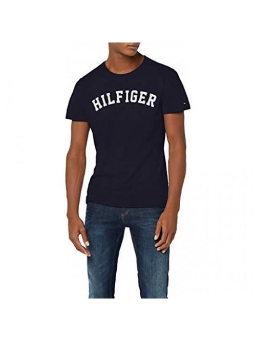 Pánské tričko Tommy Hilfiger SS TEE LOGO navy modré