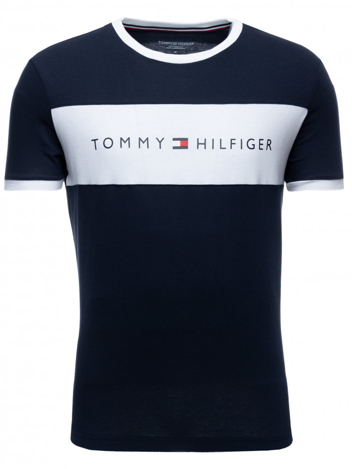 Pánské tričko Tommy Hilfiger Tee Logo Flag modré