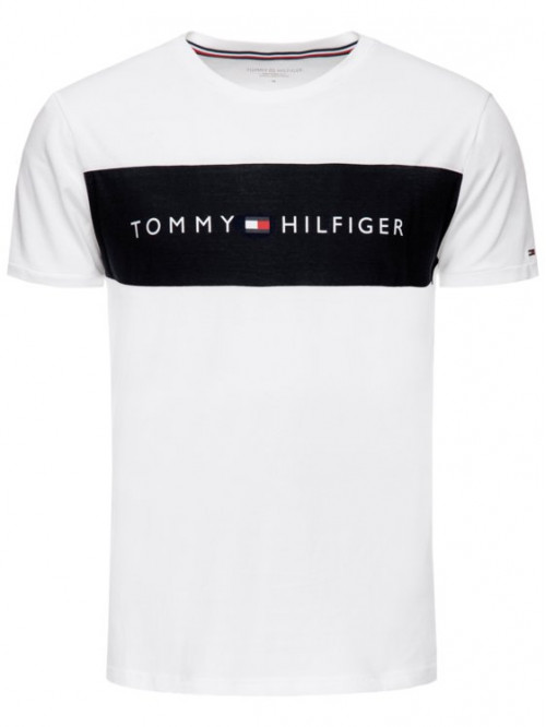 Pánské tričko Tommy Hilfiger Tee Logo Flag bílé
