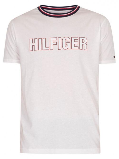 Pánské tričko Tommy Hilfiger CN SS Tee Graphic Lounge bílé