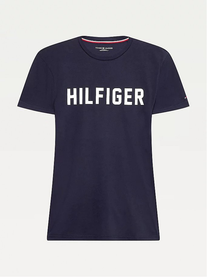 Pánské tričko Tommy Hilfiger SS Crew Neck Tee Lounge Logo modré