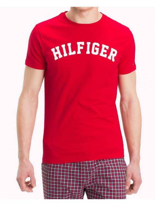 Pánské tričko Tommy Hilfiger SS TEE LOGO červené