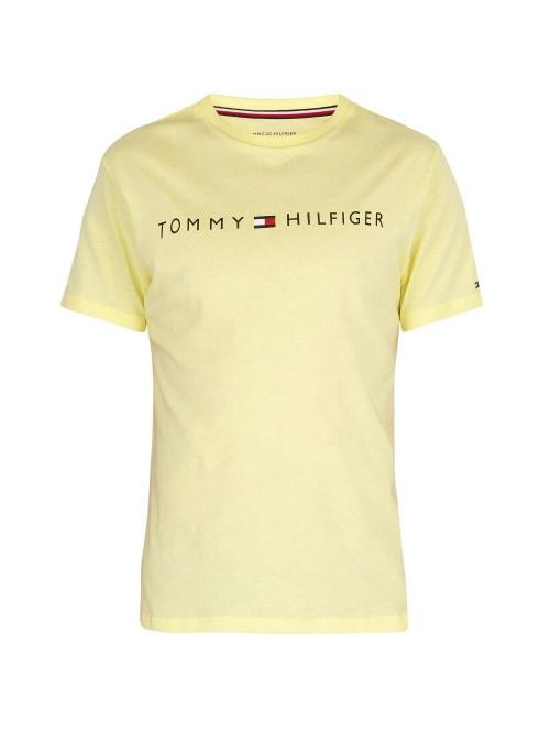 Pánské tričko Tommy Hilfiger Crew Neck Tee Logo žluté