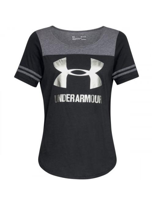 Dámské tričko Under Armour Sportstyle Baseball čer...
