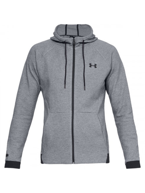 Pánská mikina  Under Armour Unstoppable 2X KNIT FZ Gray Steel Šedá