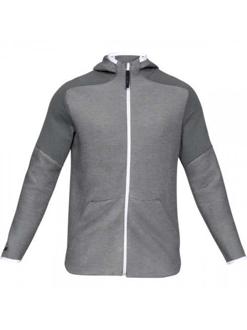 Pánská mikina Under Armour Unstoppable Move Light FZ Hoodie šedá