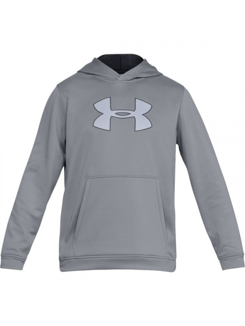 Pánská mikina Under Armour Performance Fleece Graphic Hoody šedá