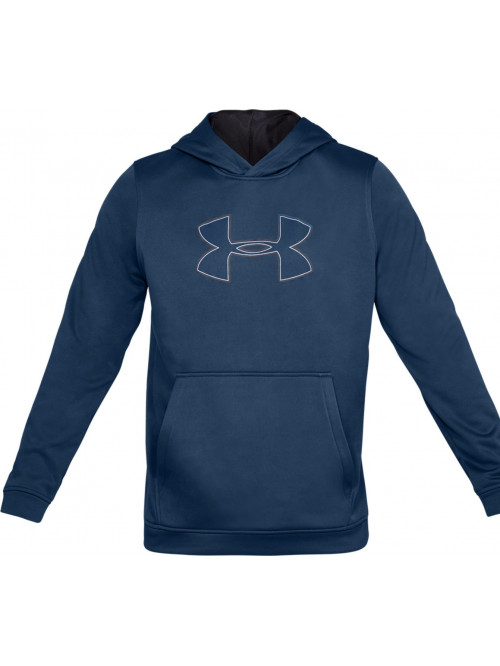 Pánská mikina Under Armour Performance Fleece Graphic Hoody modrá