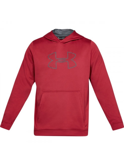 Pánská mikina Under Armour Performance Fleece Graphic Hoody červená